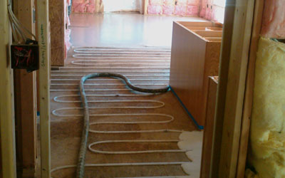 Lindeman Custom Construction Hydronic Floor Heat