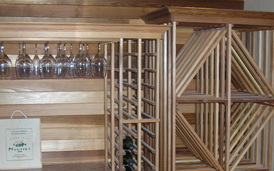 Sammamish Wine Cellar Rack and Cedar wall
